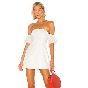 Lovers + Friends / White Allie Mini Dress XS
